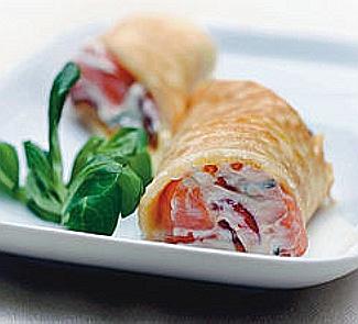 Роллы с мягким сыром и копченым лососем | Рецепты с фото