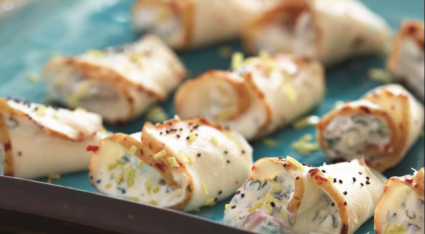 Рулетики из масляной рыбы с лимонной рикоттой | Рецепты с фото