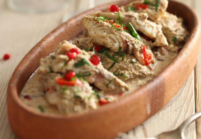 Рыба под соусом бажи | Рецепты с фото
