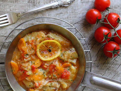 Рыба с овощами | Рецепты с фото
