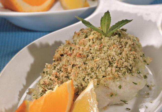 Рыбное филе в зеленой панировке | Рецепты с фото