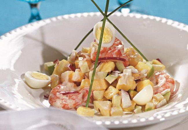 Салат из ананаса с креветками | Рецепты с фото