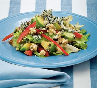Салат из авокадо с рокфором | Рецепты с фото