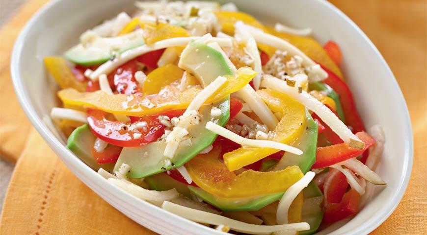 Салат из авокадо с сыром   Рецепты с фото