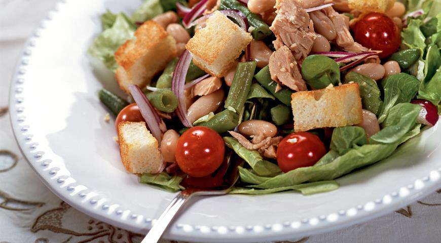 Салат из фасоли по-тоскански | Рецепты с фото