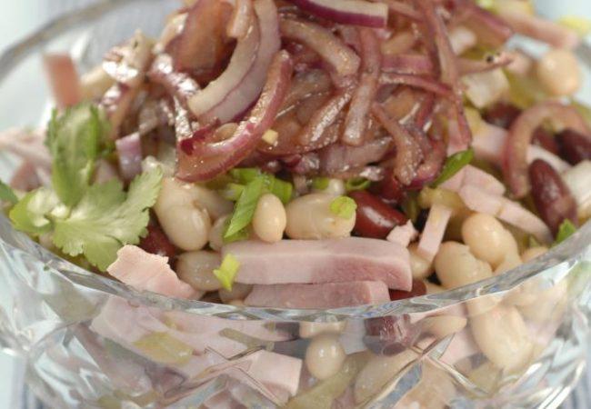 Салат из фасоли с бужениной | Рецепты с фото