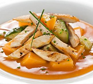 Салат из курицы с дыней | Рецепты с фото