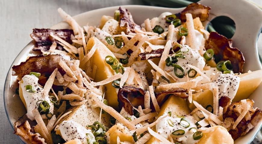Салат из печеного картофеля   Рецепты с фото