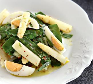 Салат из спаржи и молодого горошка | Рецепты с фото