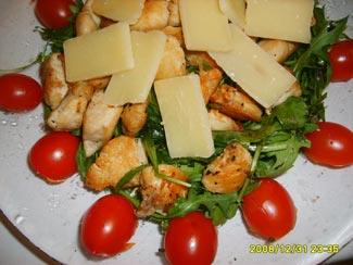 Салат рукола с куриным филе и пармезаном   Рецепты с фото