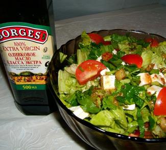 Салат с баклажанами и с сыром фета | Рецепты с фото
