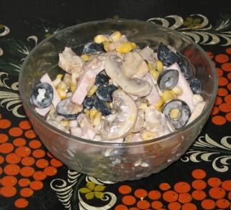 Салат с копченой грудинкой | Рецепты с фото