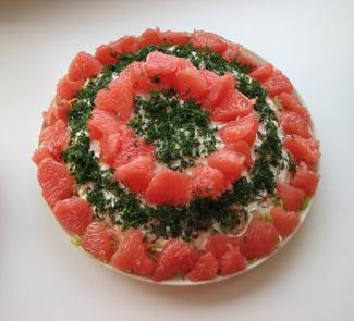 Салат с креветками и грейпфрутом | Рецепты с фото