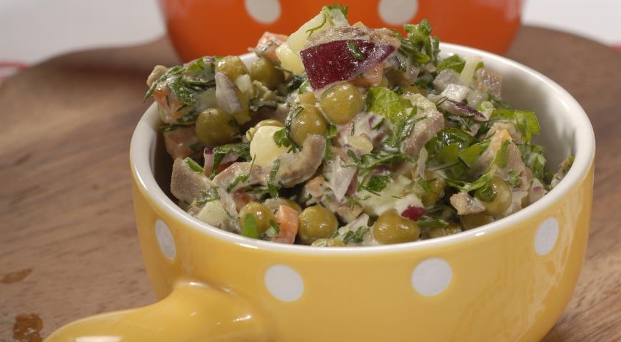 Салат со свиным языком | Рецепты с фото