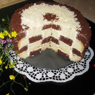 Шахматный торт | Рецепты с фото