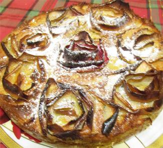 Шарлотка с яблочными розами | Рецепты с фото