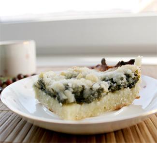 Сладкий пирог с щавелем и штрейзелем | Рецепты с фото