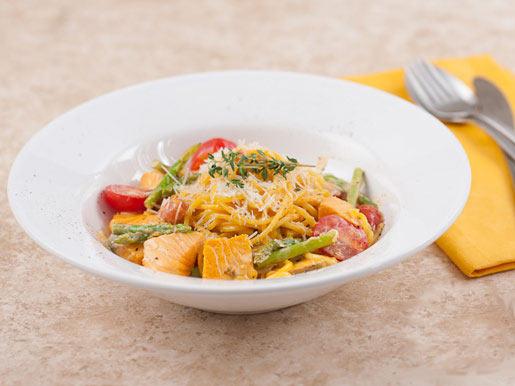 Спагетти с лососем в сливочном соусе | Рецепты с фото