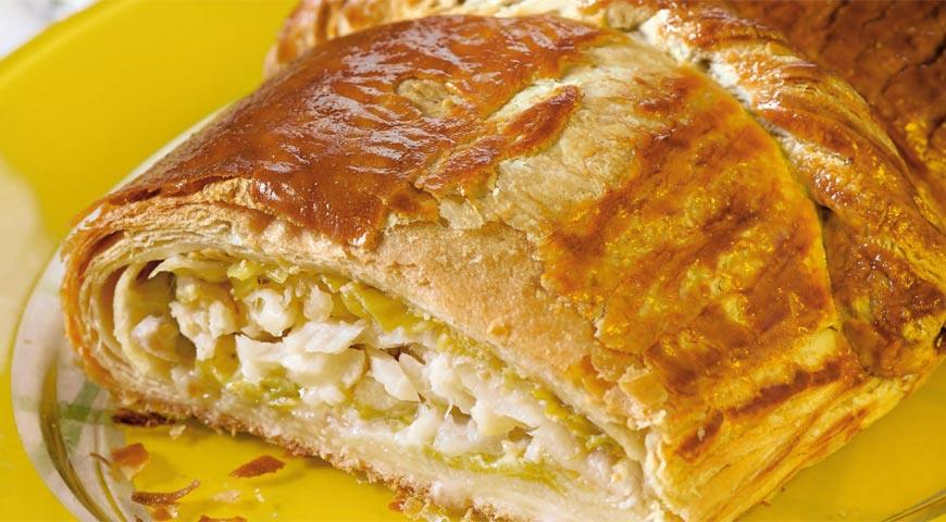 Средиземноморский пирог с треской и луком-пореем | Рецепты с фото