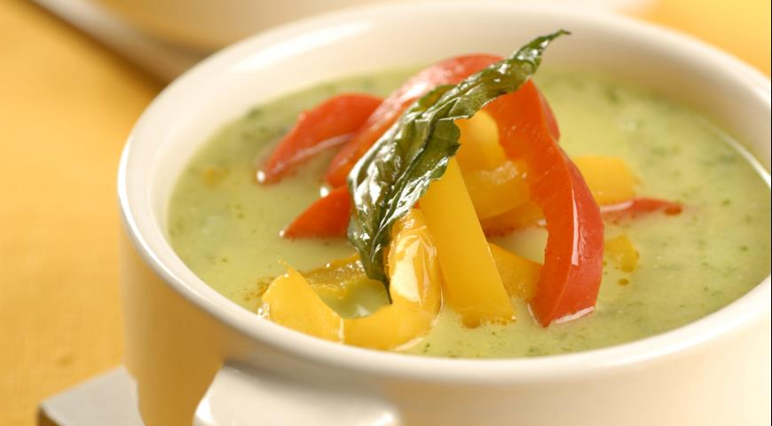 суп из болгарского перца и цветной капусты