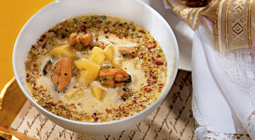 Суп с мидиями | Рецепты с фото