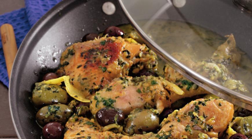 Тажин из курицы с солеными лимонами | Рецепты с фото