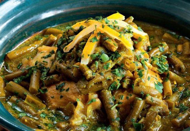 Тажин из курицы с зеленой фасолью | Рецепты с фото