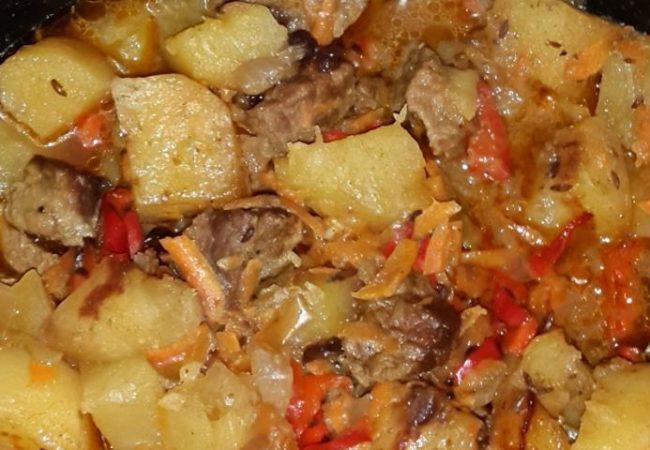 Телятина с тмином и барбарисом в горшочке | Рецепты с фото