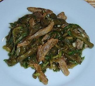 Теплый салат из стручковой фасоли | Рецепты с фото