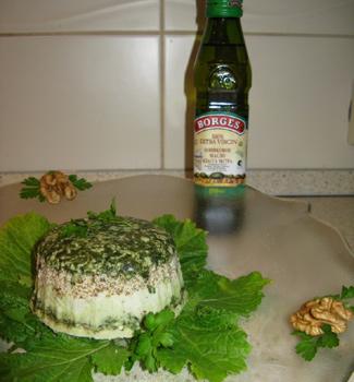Террин из сыра с эстрагоном, шпинатом и орехами | Рецепты с фото