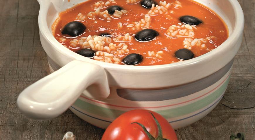 Томатный суп с маслинами | Рецепты с фото