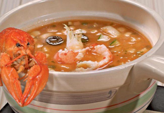 Томатный суп с раковыми шейками   Рецепты с фото