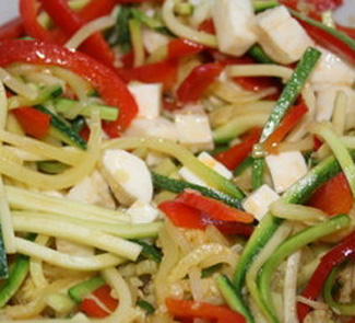 Цукини-паста с моццареллой   Рецепты с фото