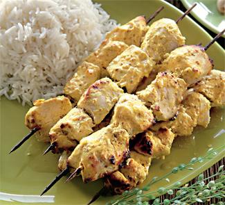 Цыпленок по-индийски на шампурах | Рецепты с фото
