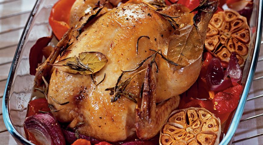 Цыпленок с овощами | Рецепты с фото