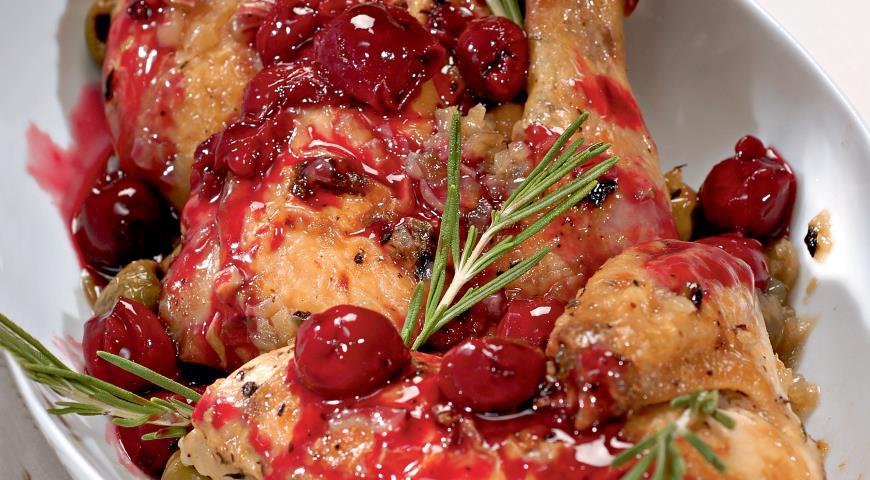 Цыпленок с вишневым соусом   Рецепты с фото