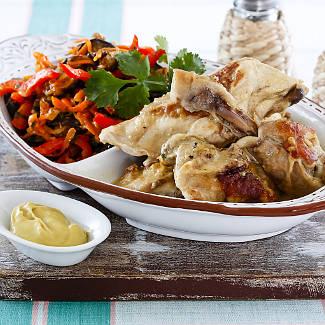 Цыпленок в горчичном соусе в мультиварке | Рецепты с фото