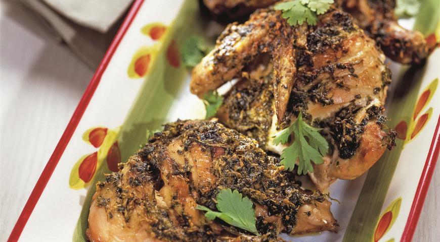 Цыпленок в маринаде из кинзы | Рецепты с фото