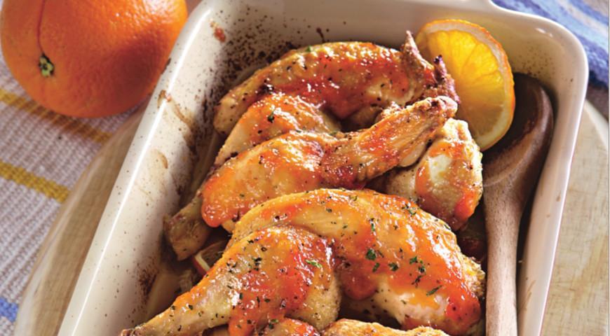 Цыплята в имбирно-апельсиновой глазури | Рецепты с фото