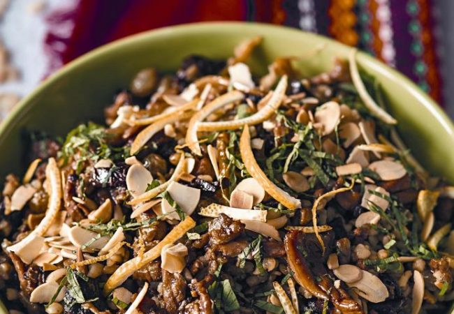 Тунисский пилав избулгура с курицей исухофруктами | Рецепты с фото