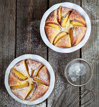 Творожный пирог с фруктами | Рецепты с фото