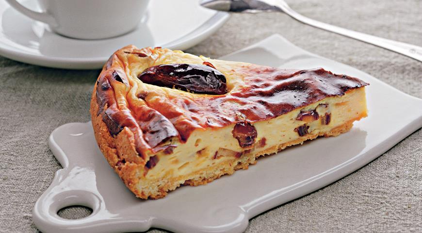Творожный пирог с сушеными финиками | Рецепты с фото