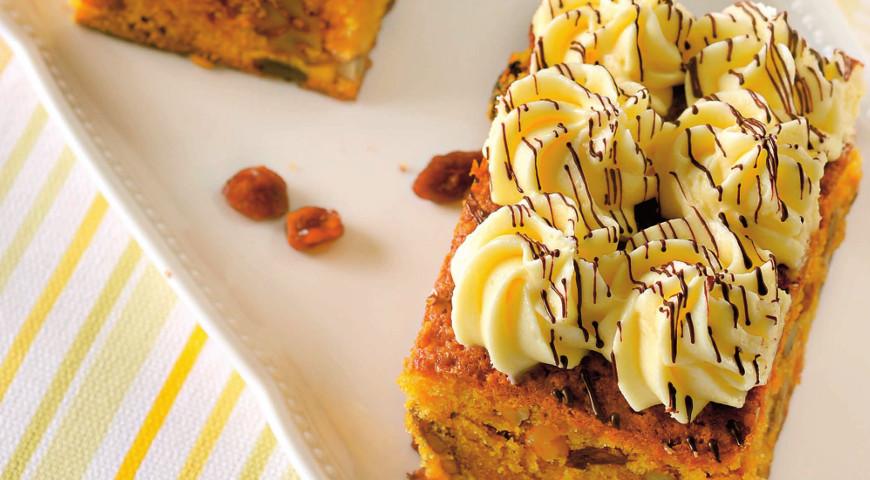 Тыквенные пирожные с сырно-шоколадным кремом | Рецепты с фото