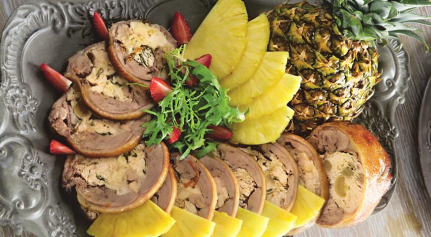 Утка в апельсиновой глазури с ананасами   Рецепты с фото