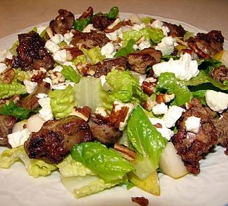 Венецианский салат из куриной печени с грушами | Рецепты с фото