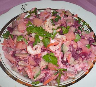 Винегрет с креветками Свежесть северного моря | Рецепты с фото