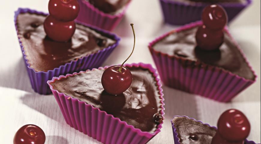 Вишнево-шоколадные кексы | Рецепты с фото