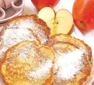 Яблочные оладьи с миндалем, корицей и медом | Рецепты с фото