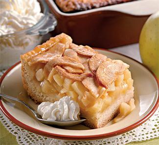 Яблочный пирог с винным кремом | Рецепты с фото