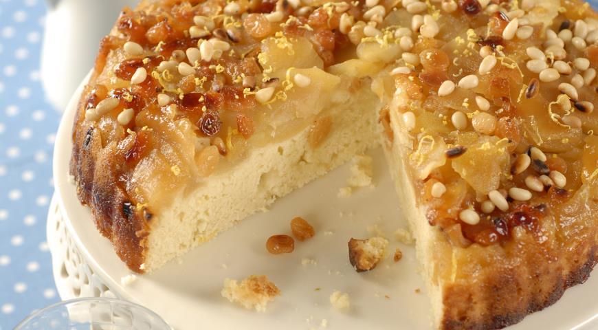 Яблочный пудинг с кедровыми орешками   Рецепты с фото